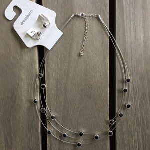 Black & Silver Fashion Jewelry Set (NWT Dressbarn)
